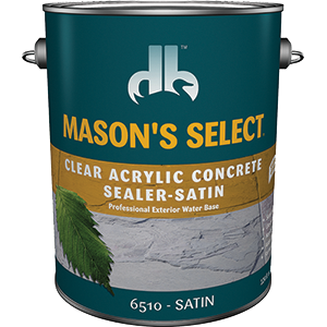 Duckback 4075565104 Mason's Select Clear Acrylic Concrete Sealer In Satin 1 Gal