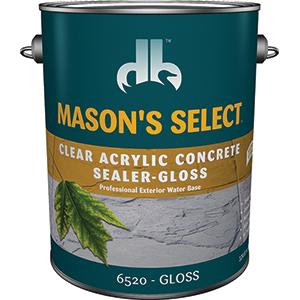 Duckback 4075565204 Mason's Select Clear Acrylic Concrete Sealer In Gloss 1 Gal