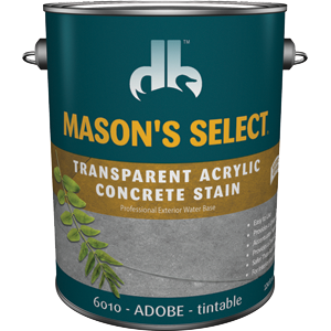 Duckback DB60104 Mason's Select Transparent Acrylic Concrete Stain In Adobe 1 Gal