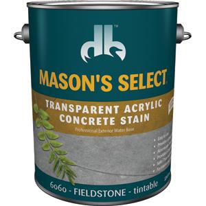 Duckback DB60604 Mason's Select Transparent Acrylic Concrete Stain In Fieldstone 1 Gal