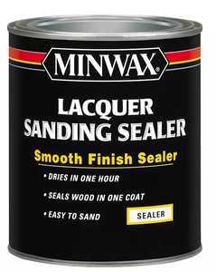 Minwax 2742615540 Interior Sanding Sealer Brushing Lacquer Clear Quart