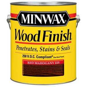 Minwax 71077 Red Mahogany Wood Finish Stain Gallon