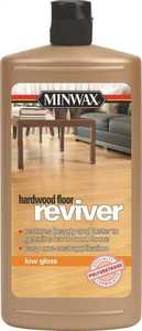 Minwax 60960 Reviver Water-Based Polyurethane For Floors Clear Low-Gloss Finish Quart