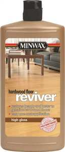 Minwax 60950 Reviver Interior Water-Based Polyurethane For Floors Clear High-Gloss Finish Quart