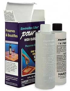 Envirotex 2008 Interior Pour-On Polymer Clear High-Gloss Finish 8-Ounce