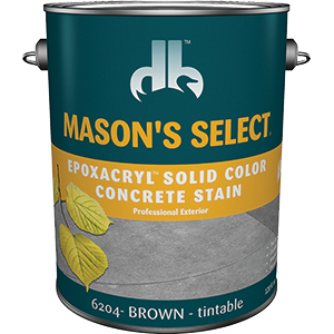 Duckback SC-6204-4 Mason's Select Epoxacryl Solid Color Concrete Stain In Brown 1 Gal