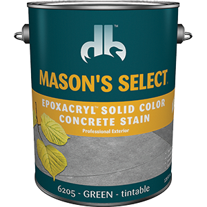 Duckback SC-6205-4 Mason's Select Epoxacryl Solid Color Concrete Stain In Green 1 Gal