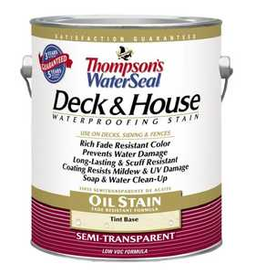 Thompsons TH.016831-16 Deck & House Waterproofing Semi Transparent Stain Cedartone