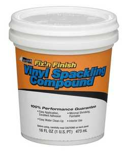 White Lightning WL060117 Spackling Compound Pt White