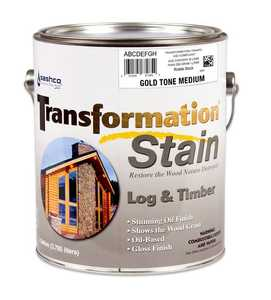 Sashco 67244 Transformation Log & Timber Stain Gold Tone Medium Gallon