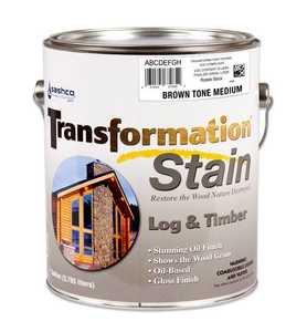 Sashco 67234 Transfrmation Log & Timber Stain Brown Tone Medium Gallon