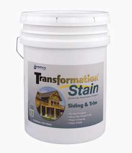 Sashco 67545 Transfrmation Siding & Trim Stain Brown Tone Medium 5 Gal