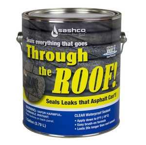 Sashco 14004 Through The Roof Sealant Gallon Clear