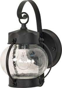 Satco Products 60-632 1-Light Textured Black Outdoor Onion Lantern