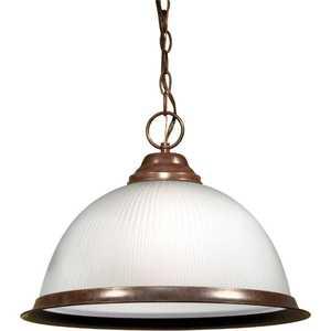 Satco Nuvo Lighting 76-690 1-Light 15 in Old Bronze Pendant Light