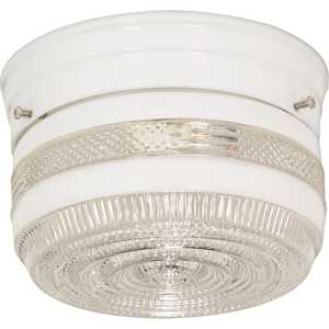 Satco Products 77-097 1-Light 6-Inch White Flush Mount Ceiling Light