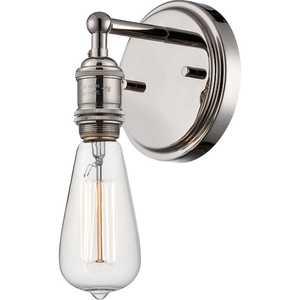 Satco Nuvo Lighting 60-5415 1-Light Polished Nickel Wall Sconce
