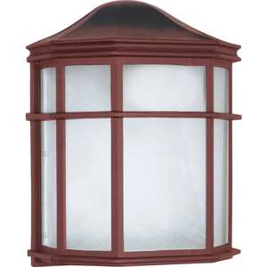 Satco Products 60-538 1-Light Old Bronze Die-Cast Caged Outdoor Wall Lantern