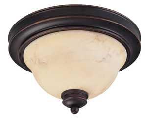 Satco Nuvo Lighting 60-1407 Flush Mount 15 in 2 Lt Anastasia Copper Espresso