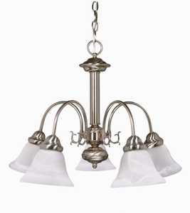 Satco Nuvo Lighting 60-181 Chandelier 5 Lt 24 in Ballerina Brushed Nickel