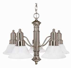 Satco Nuvo Lighting 60-189 Chandelier 5 Lt 25 in Gotham Brushed Nickel