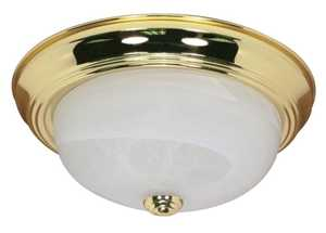 Satco Nuvo Lighting 60-213 Flush Mount 2 Lt 11 in Polished Brass