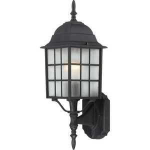 Satco Nuvo Lighting 60-4903 Outdoor Wall Light 1 Lt 18 in Adams Textured Black