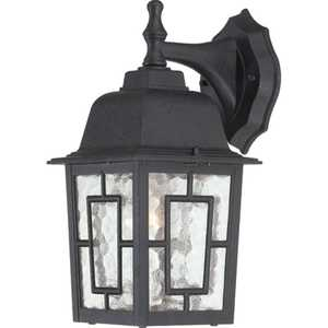 Satco Nuvo Lighting 60-4923 Outdoor Wall Light 1 Lt 12 in Banyon Textured Black