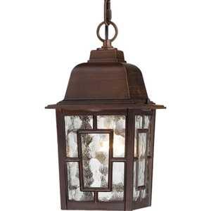 Satco Nuvo Lighting 60-4932 Hanging Outdoor Light 1 Lt 11 in Banyon Rustic Bronze