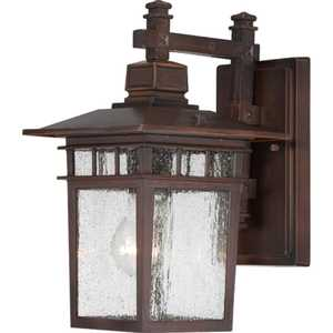 Satco Nuvo Lighting 60-4952 Hanging Outdoor Light 1 Lt 12 in Cove Neck Rustic Bronze