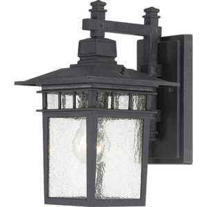 Satco Nuvo Lighting 60-4953 Hanging Outdoor Light 1 Lt 12 in Cove Neck Textured Black
