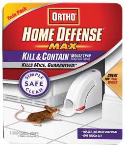 Ortho 0320110 Home Defense Max Kill W/Mouse Trap 2pk