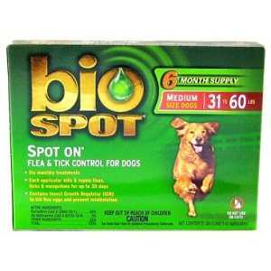 Bio Spot SD3006001 Bio Spot Dog Flea And Tick Control 3 Month 31-60lb