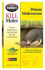 Sweeneys 6009 Mole & Gopher Poison Worms 10pk
