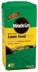 Miracle-Gro MR1001833 Miracle Gro Lawn Food 5lb Waterproof