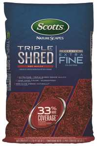 Scotts 88459410 1-1/2 Cu. Ft. Bagged Nature Scapes Triple Shred Red Mulch
