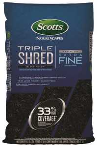 Scotts 88559410 1-1/2 Cu. Ft. Bagged Nature Scapes Triple Shred Black Mulch