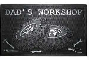 Robert Allen Home And Garden MAT01633 Dad's Workshop Door Mat