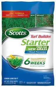 Scotts 23200 Turf Builder Starter Food N Grass+weed Preventer 5m