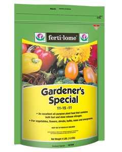 Ferti-Lome FE10784 Gardeners Special 11-15-11 4 Lbs