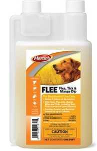 Martins PT21037 FLEE Flea Tick & Mange Dip 16 oz