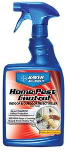 Bayer Advanced 502790A 24-Fl. Oz. Home Pest Control Indoor And Outdoor Insect Killer