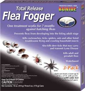 Bonide BP685 Total Release Flea Fogger 3 Pack 6 oz