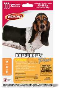 Martins MT4633 Prefurred Plus For Dogs, 45 To 88-Pounds