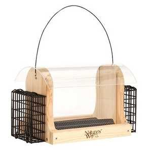 Nature's Way BFCWF16 Cedar Hopper Feeder W/2 Suet Cages 4 Qt