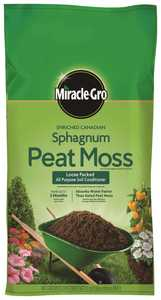 Miracle-Gro MR85252430 Enriched Canadia Sphagnum Peat Moss Loose 2 Cubic Feet