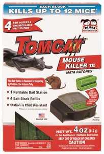 TOMCAT 23404 Tomcat Mouse Killer III Refillable 4pk