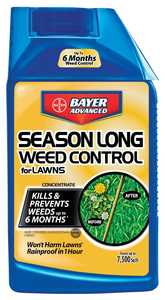 Bayer Advanced 704050B Season Long Weed Control For Lawns Concentrate 24 oz