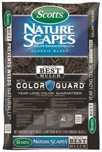 Scotts MR88502440 Nature Scapes Color Enhanced Mulch Classic Black 2cf