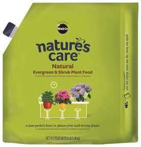 Scotts Miracle-Gro MR100134 Natures Care Natural Evergreen & Shrub Plant Food 3 Lbs